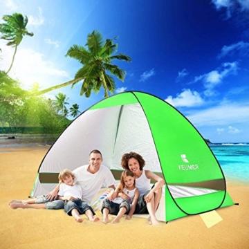 Pop Up Strandmuschel, LOTUSWILD Automatisches StrandZelt Extra Leicht UV-Schutz Portable Beach Zelt für Camping/Outdoor/ BBQ/Garten/Park/Angeln/Strand/Familienaktivitäten im Freien (für 2-4 Personen ) - 5