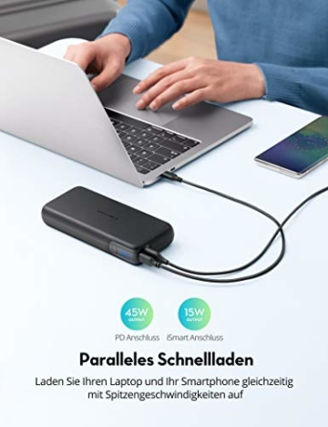 RAVPower PD 60W Powerbank USB C Power Delivery 20000mAh Quick Charge 3.0 Powerbank mit Type C Kabel für iPhone 11/12 Pro Max XS XR iPad Air Pro usw - 4