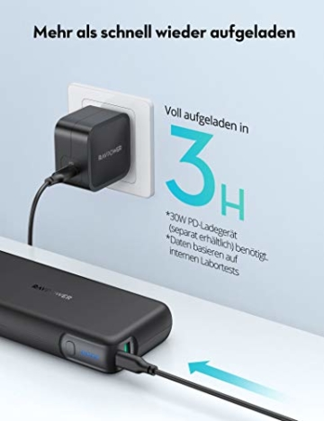 RAVPower PD 60W Powerbank USB C Power Delivery 20000mAh Quick Charge 3.0 Powerbank mit Type C Kabel für iPhone 11/12 Pro Max XS XR iPad Air Pro usw - 5