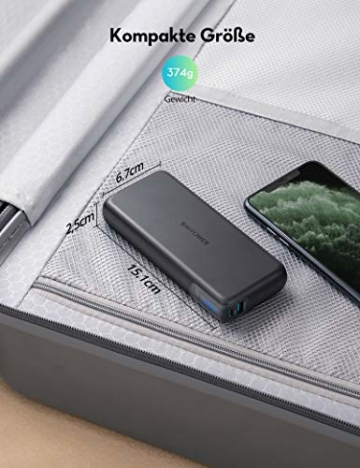 RAVPower PD 60W Powerbank USB C Power Delivery 20000mAh Quick Charge 3.0 Powerbank mit Type C Kabel für iPhone 11/12 Pro Max XS XR iPad Air Pro usw - 7