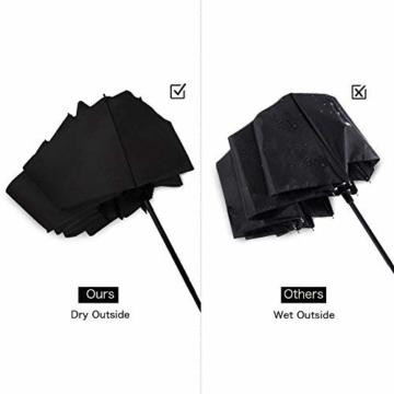 Regenschirm, faltbar, automatisch, für Reisen, winddicht, tragbar, kompakt, winddicht - 2