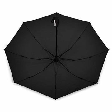 Regenschirm, faltbar, automatisch, für Reisen, winddicht, tragbar, kompakt, winddicht - 4