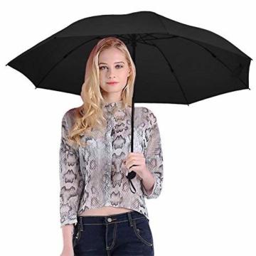 Regenschirm, faltbar, automatisch, für Reisen, winddicht, tragbar, kompakt, winddicht - 5