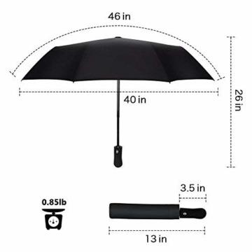 Regenschirm, faltbar, automatisch, für Reisen, winddicht, tragbar, kompakt, winddicht - 6