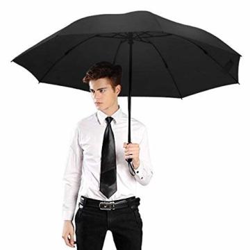 Regenschirm, faltbar, automatisch, für Reisen, winddicht, tragbar, kompakt, winddicht - 8
