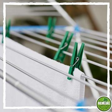 remake 80 STK Wäscheklammern Ökologische 95% Recycelte Kunststoff. Made in Italy. Ideal für Wäscheleinen im Freien und Lebensmitteltaschen. Widerstandsfähig, Winddicht. Grün Farbe - 2