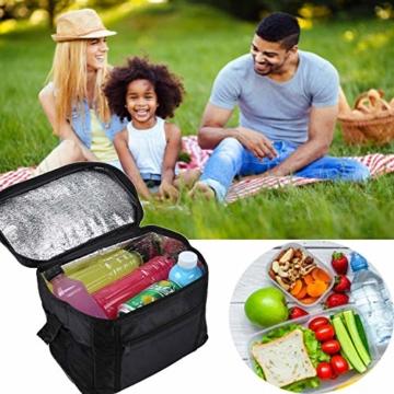 Sinwind Kühltasche Faltbar, Picknicktasche Kühltasche Thermotasche Klein Lsoliertasche Lunch Kühltasche Eistasche Lunch Tasche Kühlbox 10L für Picknick (rot) - 2