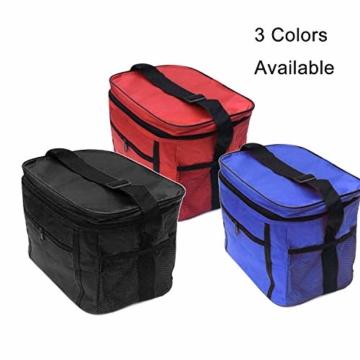 Sinwind Kühltasche Faltbar, Picknicktasche Kühltasche Thermotasche Klein Lsoliertasche Lunch Kühltasche Eistasche Lunch Tasche Kühlbox 10L für Picknick (rot) - 5
