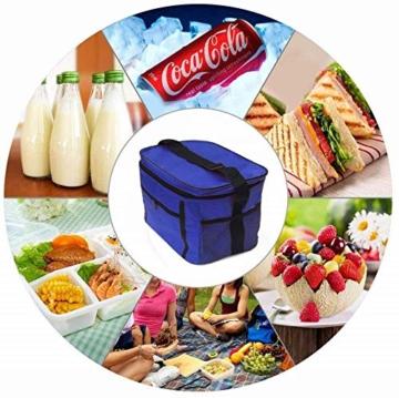 Sinwind Kühltasche Faltbar, Picknicktasche Kühltasche Thermotasche Klein Lsoliertasche Lunch Kühltasche Eistasche Lunch Tasche Kühlbox 10L für Picknick (rot) - 7