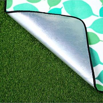 SONGMICS 200 x 200 cm XXL Picknickdecke Fleece wärmeisoliert wasserdicht mit Tragegriff GCM78Y - 5