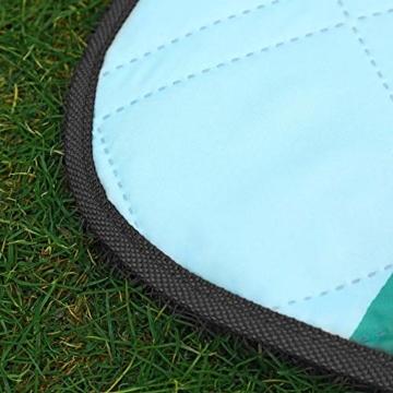 SONGMICS Picknickdecke, 200 x 200 cm große Stranddecke, Campingdecke, wasserdichte Unterseite, maschinenwaschbar, faltbar, für Garten, Park, Strand, Camping, blau mit tropischem Farn GCM087Q01 - 3