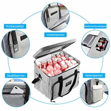SPGOOD 20L Kühltasche Thermotasche Picknicktasche Lunchtasche Isolierte Tasche Cooler Bag Mittagessen Klein Kühlbox mit Kühlakkus für Lebensmitteltransport Erwachsene Kinder Arbeit Picknick - 2