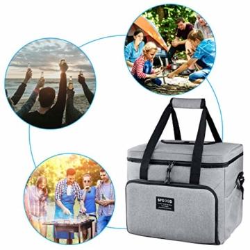 SPGOOD 20L Kühltasche Thermotasche Picknicktasche Lunchtasche Isolierte Tasche Cooler Bag Mittagessen Klein Kühlbox mit Kühlakkus für Lebensmitteltransport Erwachsene Kinder Arbeit Picknick - 3