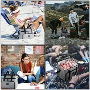 SPGOOD 20L Kühltasche Thermotasche Picknicktasche Lunchtasche Isolierte Tasche Cooler Bag Mittagessen Klein Kühlbox mit Kühlakkus für Lebensmitteltransport Erwachsene Kinder Arbeit Picknick - 4