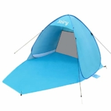 Strandmuschel, Pop up Strandzelt Shelter für 2-3 Personen Portable Beach Zelt 50 Sonnenschutz, Outdoor Tragbar Wurfzelt UV-Schutz, Strand Muschel Zelt für Familie BBQ Strand Garten Camping,Trekking - 1