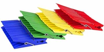 Tegra egra SILUK_ 50 x Wäscheklammern Klammern Wäscheklammer Kunststoff farbig (50 STK) - 2