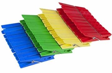 Tegra egra SILUK_ 50 x Wäscheklammern Klammern Wäscheklammer Kunststoff farbig (50 STK) - 3