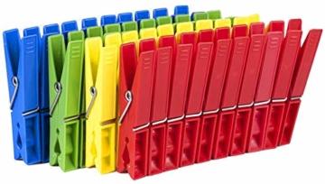 Tegra egra SILUK_ 50 x Wäscheklammern Klammern Wäscheklammer Kunststoff farbig (50 STK) - 1