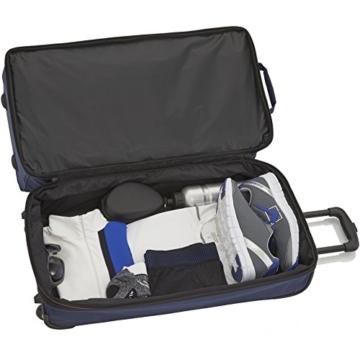 travelite 2-Rad Trolley Reisetasche Gr. S mit Dehnfalte, Gepäck Serie BASICS: Weichgepäck Reisetasche mit Rollen mit extra viel Volumen, 096275-20, 55 cm, 51 Liter (erweiterbar auf 64 Liter), marine - 3