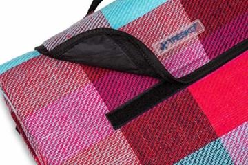TRESKO XXL 195 x 150 cm Picknickdecke Acryl Wasserdicht | Campingdecke für Outdoor mit Tragegriff | Wärmeisoliert & Weich PNDKE26 - 6