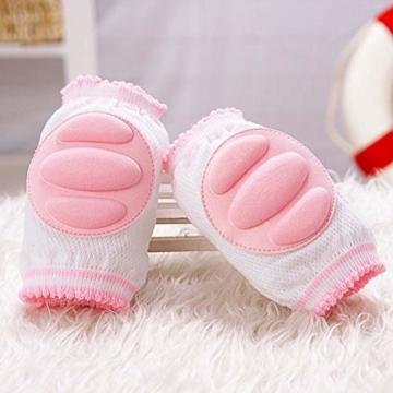 Vektenxi Knieschützer Ellbogenschützer Krabbelpolster Armpolster Unisex Knieschützer Krabbeln Schutzfolie für Kleinkind Baby Pink - 5