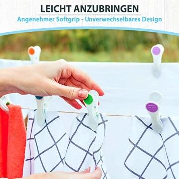 Vilenia Home Wäscheklammern Softgrip - 50 Stück Premium Klammern aus Kunststoff - Optimal für den Wäscheständer und Klammerbeutel - Wäscheklammer - 2