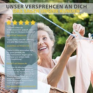 Vilenia Home Wäscheklammern Softgrip - 50 Stück Premium Klammern aus Kunststoff - Optimal für den Wäscheständer und Klammerbeutel - Wäscheklammer - 3