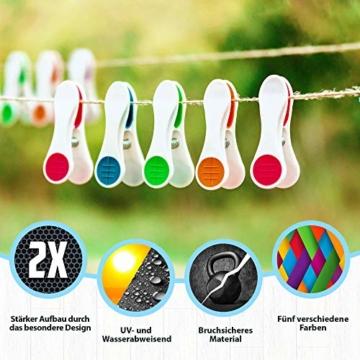 Vilenia Home Wäscheklammern Softgrip - 50 Stück Premium Klammern aus Kunststoff - Optimal für den Wäscheständer und Klammerbeutel - Wäscheklammer - 4