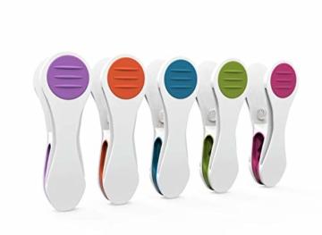 Vilenia Home Wäscheklammern Softgrip - 50 Stück Premium Klammern aus Kunststoff - Optimal für den Wäscheständer und Klammerbeutel - Wäscheklammer - 1