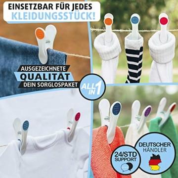 Vilenia Home Wäscheklammern Softgrip - 50 Stück Premium Klammern aus Kunststoff - Optimal für den Wäscheständer und Klammerbeutel - Wäscheklammer - 5