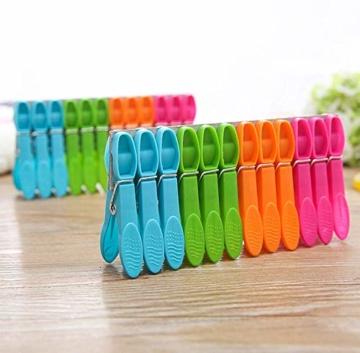 WeyTy Wäscheklammern, Hochwertiges Design Wäscheklammer Set - Klammern aus stabilem Kunststoff - für Wäscheleine oder Wäscheständer/Wäsche/Strandtuch/Badetuch/Teppich etc (48 Stück) - 1