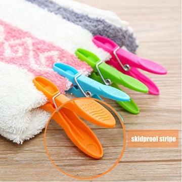 WeyTy Wäscheklammern, Hochwertiges Design Wäscheklammer Set - Klammern aus stabilem Kunststoff - für Wäscheleine oder Wäscheständer/Wäsche/Strandtuch/Badetuch/Teppich etc (48 Stück) - 5