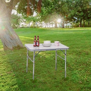 WOLTU Campingtisch Klapptisch Alu Gartentisch Arbeitstisch Balkontisch Reisetisch,75x55x25,5-58,5cm, Tischplatte aus MDF CPT8131ws - 3