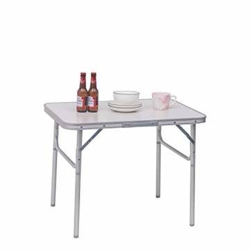 WOLTU Campingtisch Klapptisch Alu Gartentisch Arbeitstisch Balkontisch Reisetisch,75x55x25,5-58,5cm, Tischplatte aus MDF CPT8131ws - 4