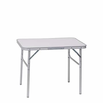 WOLTU Campingtisch Klapptisch Alu Gartentisch Arbeitstisch Balkontisch Reisetisch,75x55x25,5-58,5cm, Tischplatte aus MDF CPT8131ws - 1