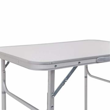 WOLTU Campingtisch Klapptisch Alu Gartentisch Arbeitstisch Balkontisch Reisetisch,75x55x25,5-58,5cm, Tischplatte aus MDF CPT8131ws - 5
