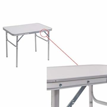 WOLTU Campingtisch Klapptisch Alu Gartentisch Arbeitstisch Balkontisch Reisetisch,75x55x25,5-58,5cm, Tischplatte aus MDF CPT8131ws - 6