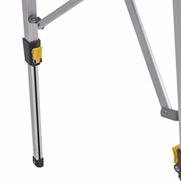 WOLTU Campingtisch Klapptisch aus Alu Gartentisch Balkontisch Reisetisch zusammenklappbar, mit Packtasche, Höhenverstellbar, 90x52.2X(45-72) cm, CPT8129sb - 6