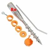 8x Bodenhülse 64 mm Feuerverzinkt Universal Einschraubbodenhülse Schirmständer Eindrehhülse für Wäschespinne Einschraubhülse Hülse - 1