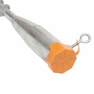 8x Bodenhülse 64 mm Feuerverzinkt Universal Einschraubbodenhülse Schirmständer Eindrehhülse für Wäschespinne Einschraubhülse Hülse - 4