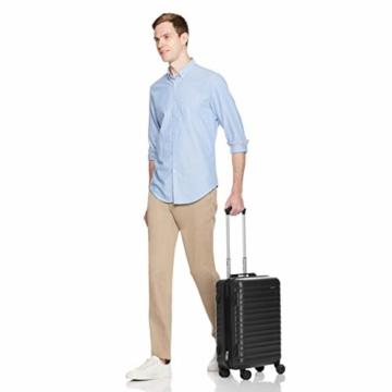 Amazon Basics - Hartschalen-Trolley mit Schwenkrollen - 55cm Handgepäck-Größe, für Ryanair und die meisten anderen Billigfluglinien genehmigt - 4