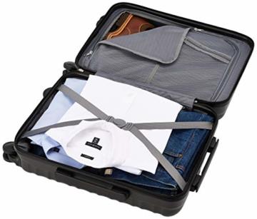 Amazon Basics - Hartschalen-Trolley mit Schwenkrollen - 55cm Handgepäck-Größe, für Ryanair und die meisten anderen Billigfluglinien genehmigt - 7