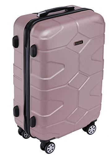 BEIBYE - TSA Schloß 2035 Hartschale Reisekoffer Koffer Handgepäck Trolley (Rosagold, M) - 2
