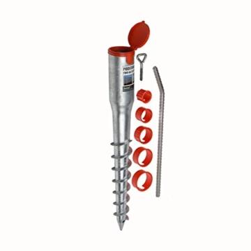 Bodenhülse Einschraub Bodenhülsen Einschlaghülse Pfostenträger Feuerverzinkt - 68x550 - 1