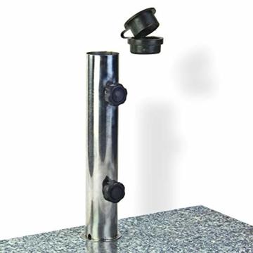 DEMA Sonnenschirmständer halb 25 kg Granit - 2