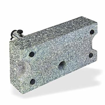 DEMA Sonnenschirmständer halb 25 kg Granit - 3