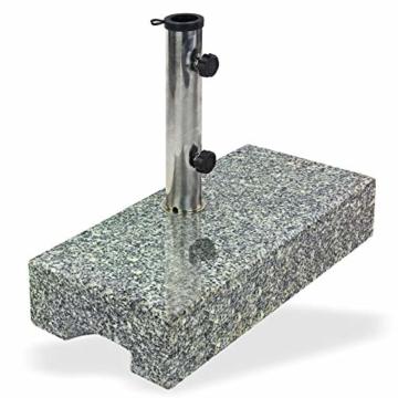 DEMA Sonnenschirmständer halb 25 kg Granit - 4