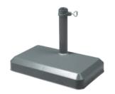 Doppler Balkonschirmständer 20 kg anthrazit - für Rohr 25-32mm - 1
