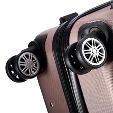 Flexot 2045 Handgepäck Koffer (Bordcase) - Farbe Rosegold Größe M Hartschalen-Koffer Trolley Rollkoffer Reisekoffer Handgepäck 4 Rollen - 7