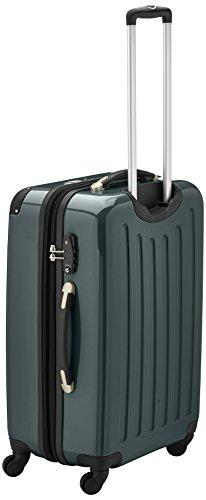 HAUPTSTADTKOFFER - Alex - Hartschalen-Koffer Koffer Trolley Rollkoffer Reisekoffer Erweiterbar, 4 Rollen, TSA, 65 cm, 74 Liter, Waldgrün - 3